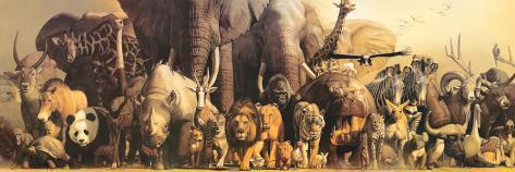 Noah's Ark Stretched Canvas Print