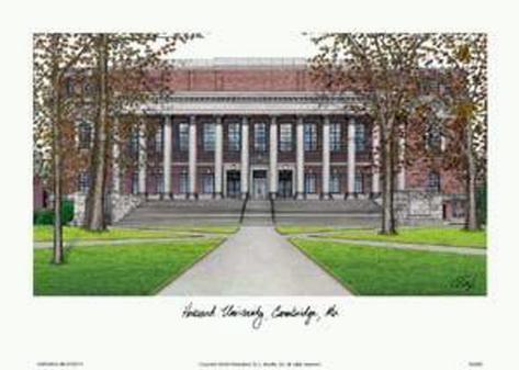 Harvard University Art Print