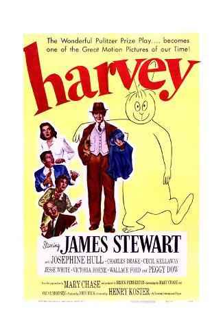 Harvey - Movie Poster Reproduction Premium Giclee Print