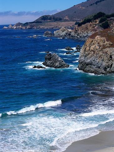 The Pacific Coast at Big Sur, California Photographic Print