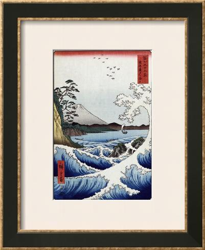 The Sea off Satta in Suruga Province', from the Series 'The Thirty-Six Views of Mt. Fuji' Framed Giclee Print
