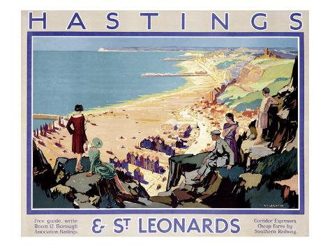 Hastings and St Leonards Giclee Print