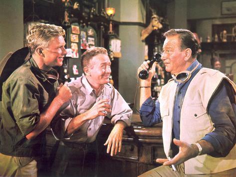 Hatari!, Hardy Kruger, Red Buttons, John Wayne, 1962 Photo