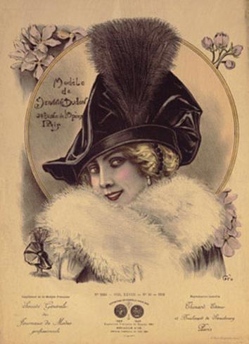 Hats from Expostion Universalle, Paris, 1900 Art Print