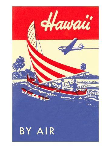 Hawaii by Air, Outrigger Art Print
