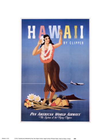 Hawaii by Clipper Art Print