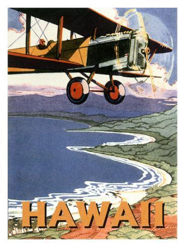 Hawaii, Sight Seeing by Air Giclee Print