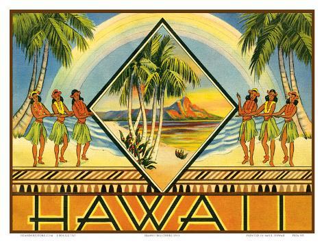 Hawaii Travel Brochure, c.1943 Art Print