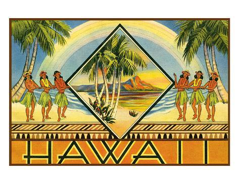Hawaii Travel Brochure, c.1943 Giclee Print