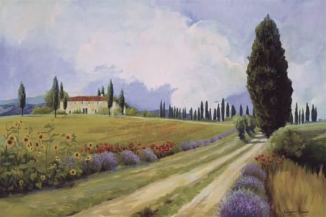 Holiday in Tuscany Art Print