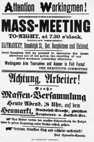 Haymarket Meeting Poster Valokuvavedos
