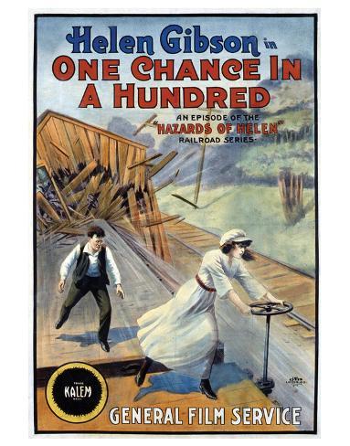 Hazards Of Helen - 1915 Giclee Print