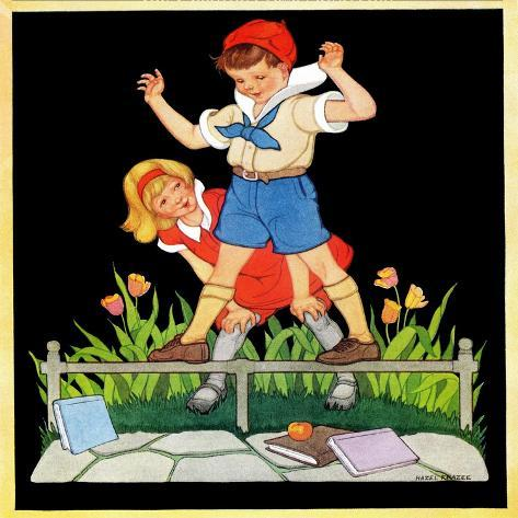 Showing Off  - Child Life Giclee Print
