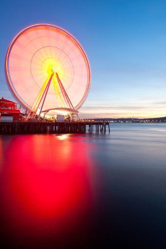 Seattle Ferris Wheel Photographic Print