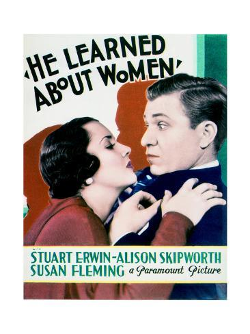 He Learned About Women - Movie Poster Reproduction Art Print