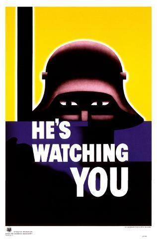 He's Watching You Masterprint