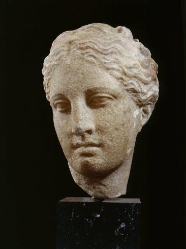 Head of Hygeia, Greek Goddess of Health, Marble, c. 350 BC Classical Greek Photographic Print