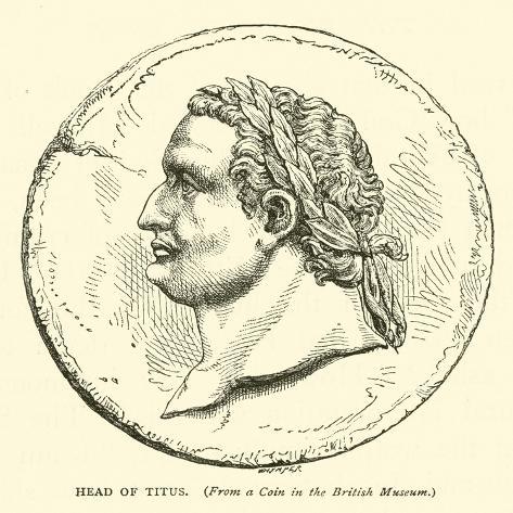 Head of Titus Lámina giclée