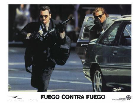 Heat, Spanish Movie Poster, 1995 Stretched Canvas Print