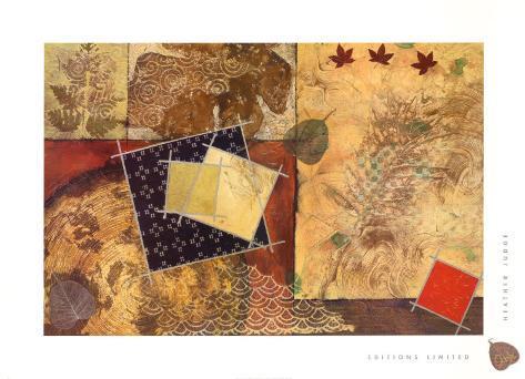 Gilded Leaf I Framed Art Print