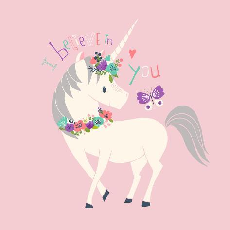 オールポスターズの heather rosas i believe in you unicorn 高画質