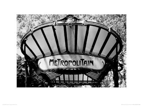 Metro Entrance, Paris Giclee Print