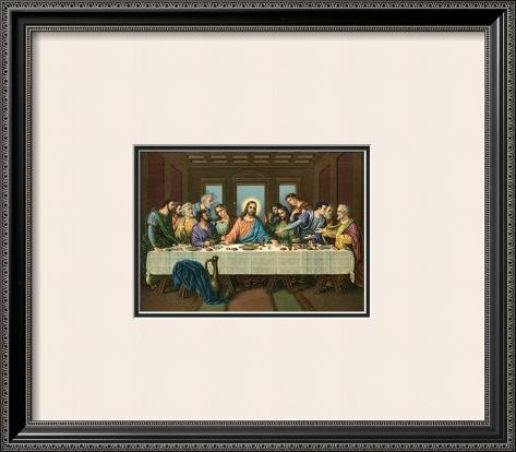 Heilige Abendmahl Impressão artística emoldurada
