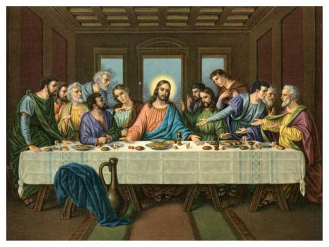 Heilige Abendmahl Art Print
