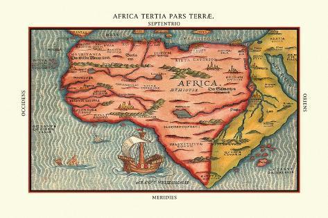 Africa Tertia Pars Terrae Väggdekal