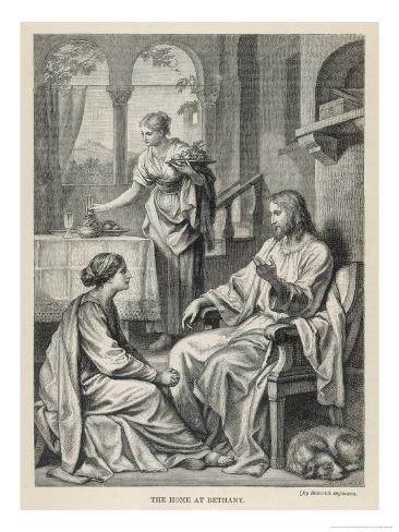 Jesus Talks with Mary While Martha Does Housework Giclee Print