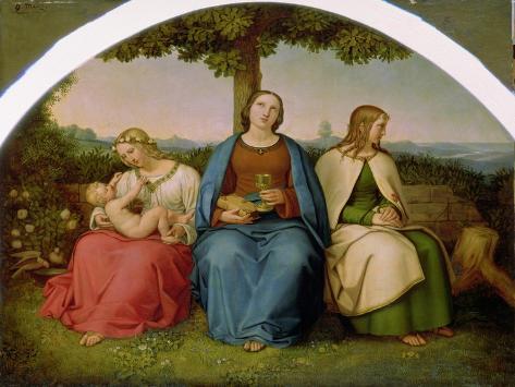 Belief, Hope and Love, 1819 Giclee Print