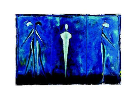 M-2 (Blue) Art Print