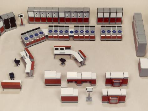 Model of a Computer Room Layout Photographic Print