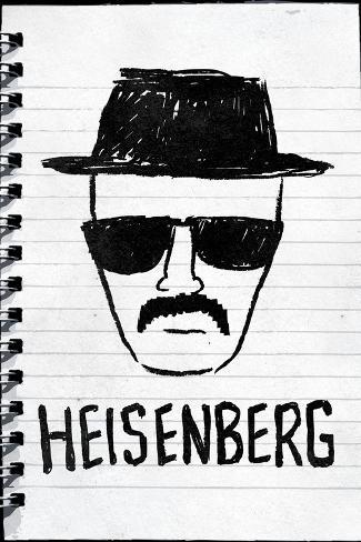 Heisenberg Sketch Plastic Sign Plastic Sign
