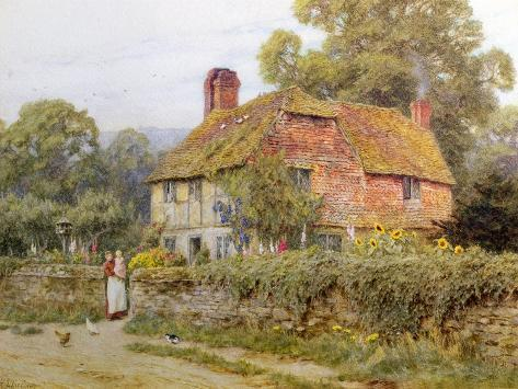 A Surrey Cottage Giclee Print