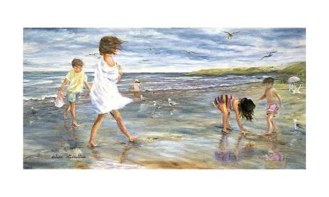 Collecting Seashells Art Print