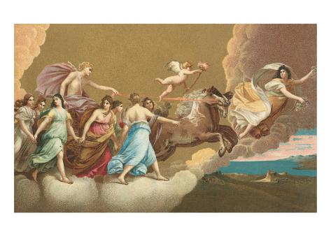 Helios with Sun Chariot Art Print
