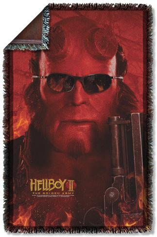Hellboy II - Big Red Woven Throw Throw Blanket