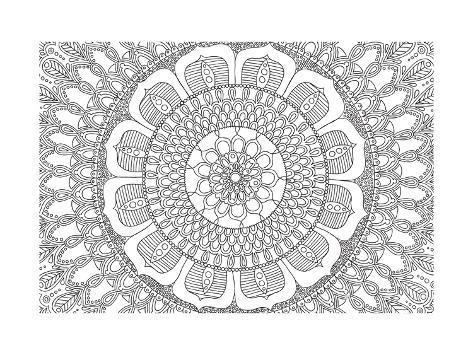 Flower Mandala Pósters por Hello Angel en AllPosters.es