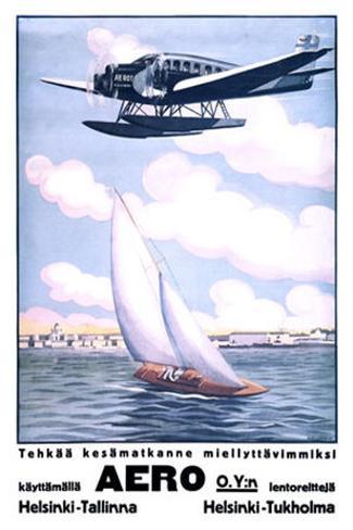 Helsinki Aero Sailboat Giclee Print