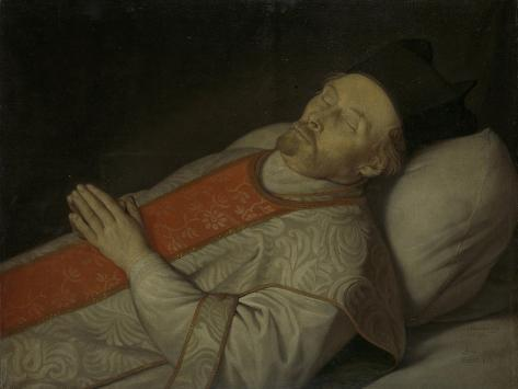 Johannes Puttkammer. Licentiate in Theology at the University of Utrecht, on His Deathbed Art Print