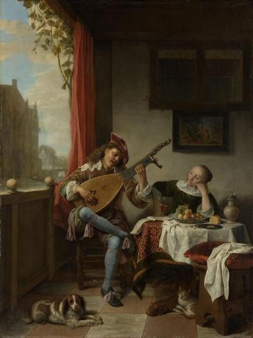 Lutenist Art Print