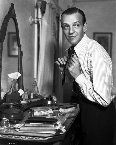 Fred Astaire Fixing Neck Tie Photo