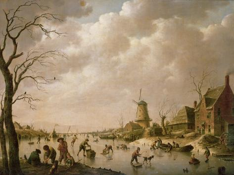 Skaters on a Frozen Canal, 1779 Giclee Print