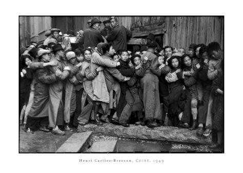 Gold Distribution, Shanghai, China, 1949 Framed Art Print