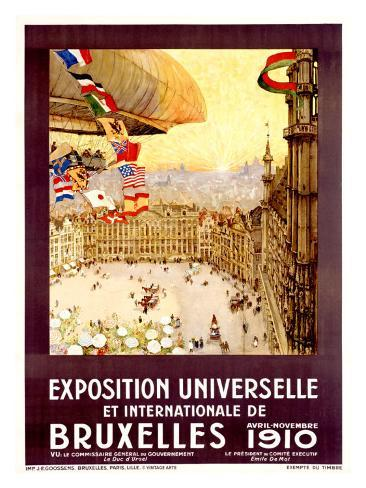 Expo Universelles Bruxelles, 1910 Giclee Print