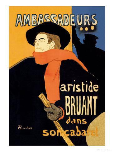 Ambassadeurs: Aristide Bruant dans Son Cabaret Art Print
