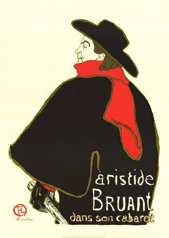 Aristide Bruant Dans Son Cabaret Art Print