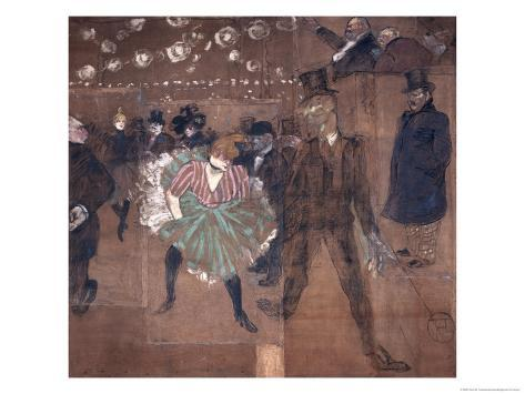 Dancing at the Moulin Rouge: La Goulue and Valentin Le Desosse 1895 Giclee Print