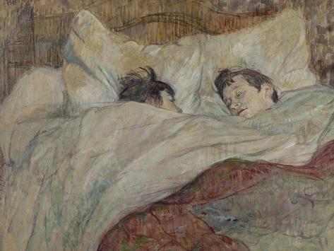 En la cama Lámina giclée